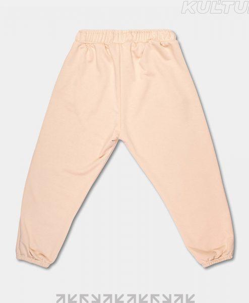 Трикотажные брюки OverSize, бежевый (back)