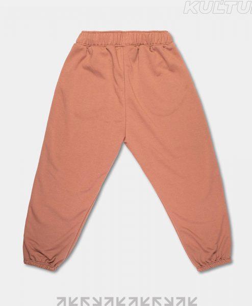 Трикотажные брюки OverSize, коричневый (back)