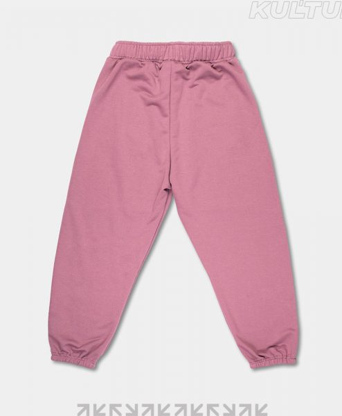 Трикотажные брюки OverSize, марсала (back)