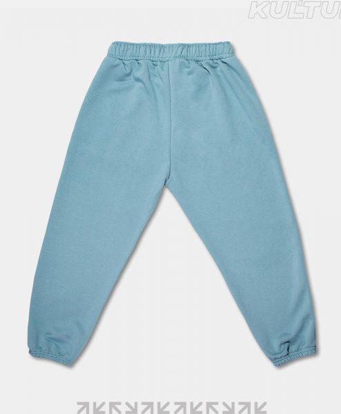 Трикотажные брюки OverSize, пепел (back)