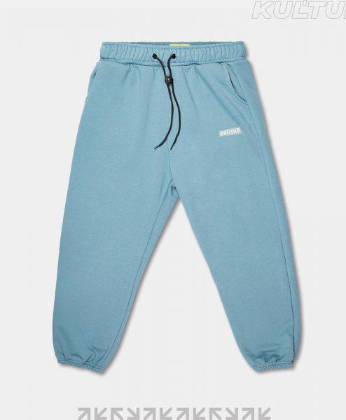 Трикотажные брюки OverSize, пепел (front)