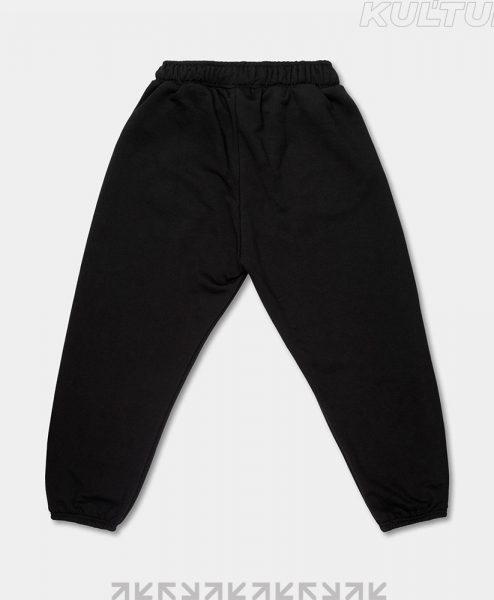Трикотажные брюки OverSize, черный (back)