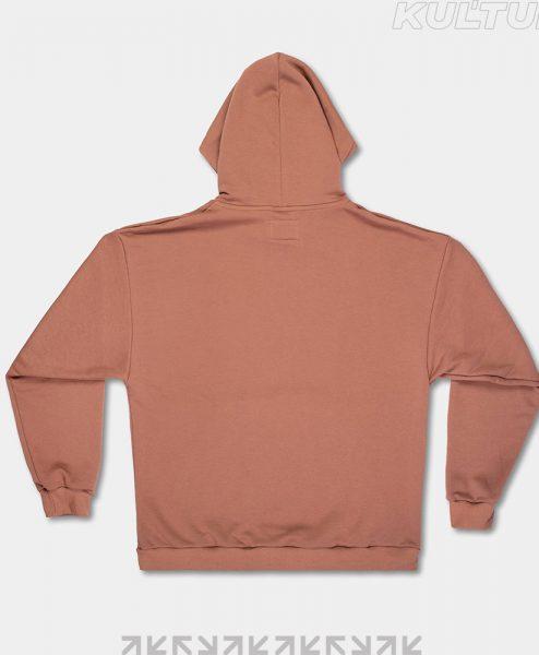 Худи OverSize, коричневый (back)