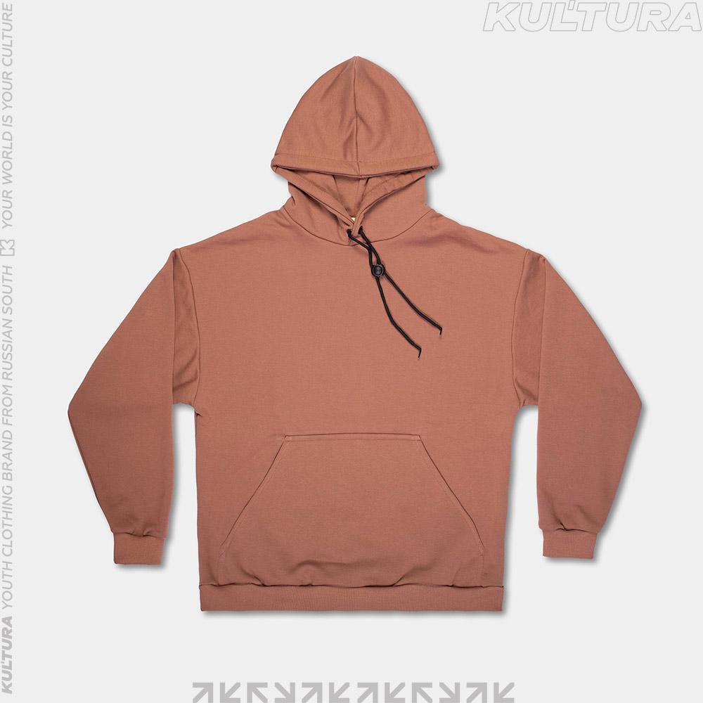 Худи OverSize, коричневый (front)